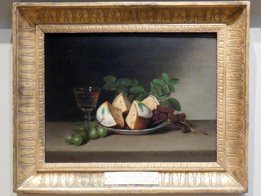 Raphaelle Peale: Stillleben mit Kuchen, 1818