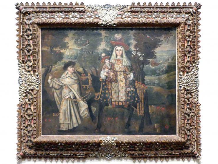 """Unsere Liebe Frau der Barmherzigkeit, genannt """"Die Pilgerin von Quito"""", um 1730 - 1740"""