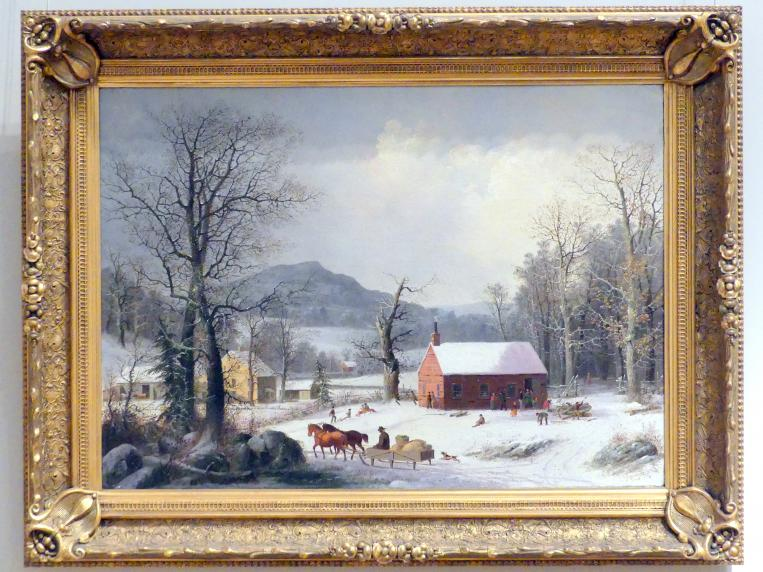 George Henry Durrie: Rotes Schulhaus (Landszene), 1850 - 1860