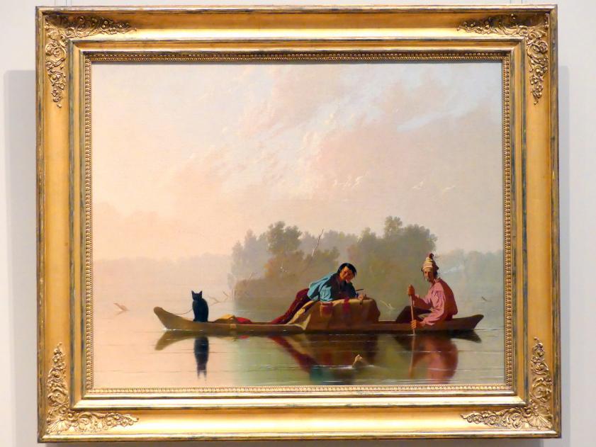George Caleb Bingham: Pelzhändler, den Missouri hinabfahrend, 1845
