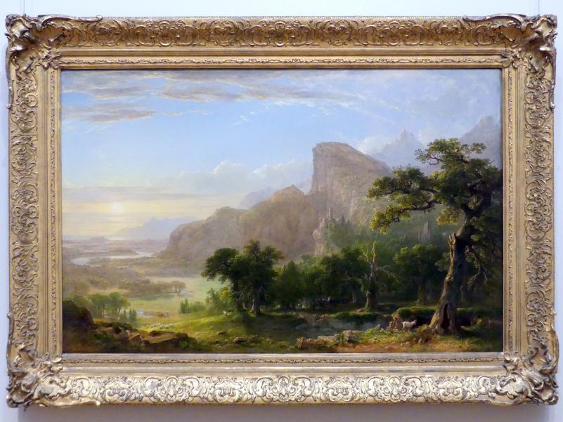 """Asher Brown Durand: Landschaft - Szene aus """"Thanatopsis"""", 1850"""