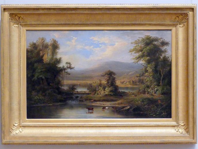 Robert S. Duncanson: Landschaft mit trinkenden Kühen im Fluss, 1871