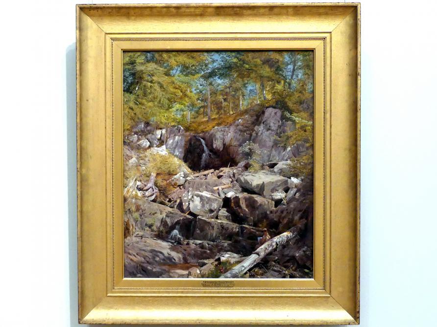 John Henry Hill: Studie von Trapp-Gestein (Buttermilk Falls), 1863