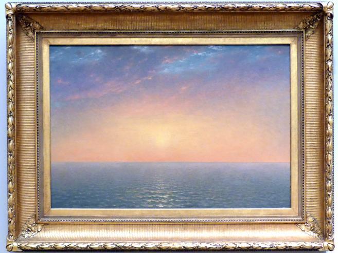 John Frederick Kensett: Sonnenuntergang am Meer, 1872