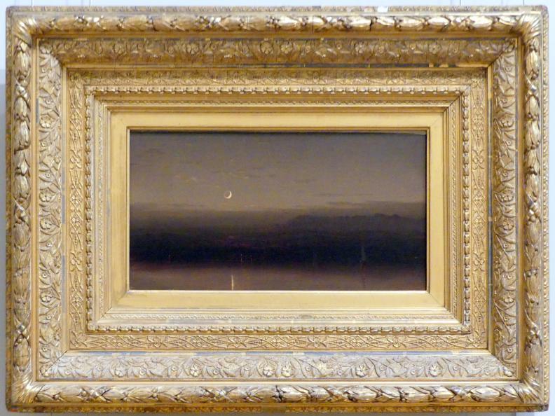 Sanford Robinson Gifford: Flussszene bei Mondschein, um 1870 - 1880