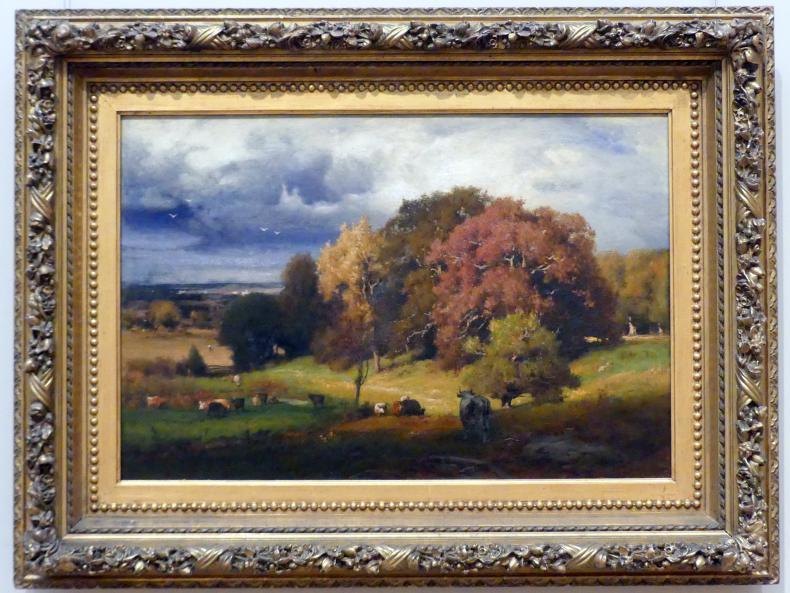 George Inness: Herbsteichen, um 1878