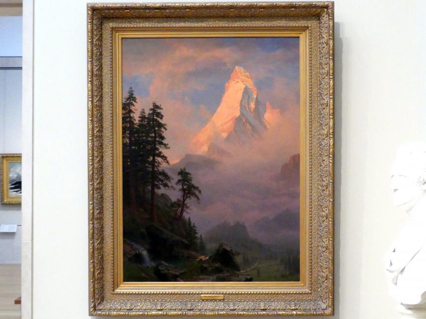 Albert Bierstadt: Sonnenaufgang am Matterhorn, um 1875 - 1885