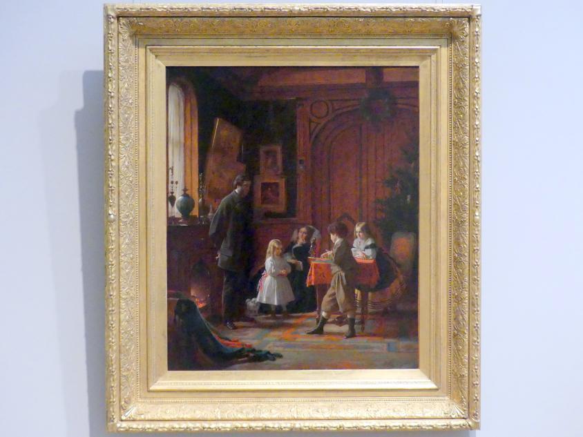 Eastman Johnson: Weihnachtszeit, Die Familie Blodgett, 1864