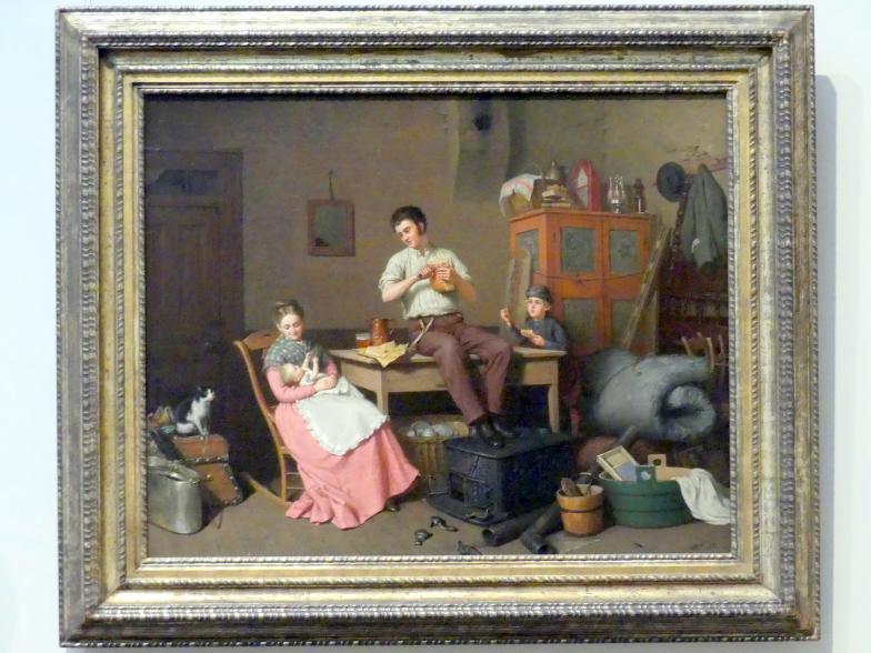 Henry Mosler: Gerade umgezogen, 1870