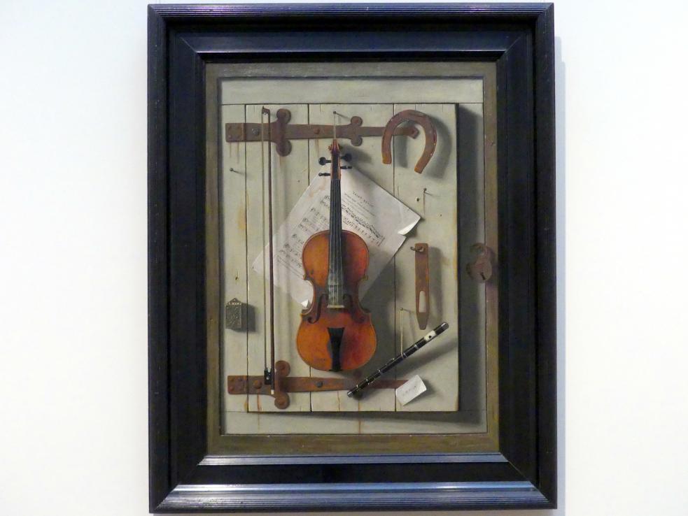 William Michael Harnett: Stillleben - Violine und Musik, 1888