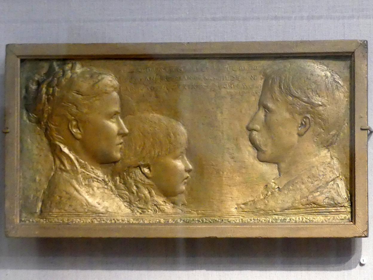 Augustus Saint-Gaudens: Richard Watson Gilder, Helena de Kay Gilder und Rodman de Kay Gilder, 1879