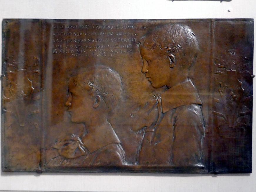 Augustus Saint-Gaudens: William Henry II und Cornelius Vanderbilt II, 1882