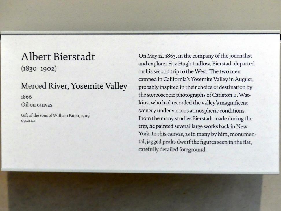 Albert Bierstadt: Merced River, Yosemite Valley, 1866, Bild 2/2