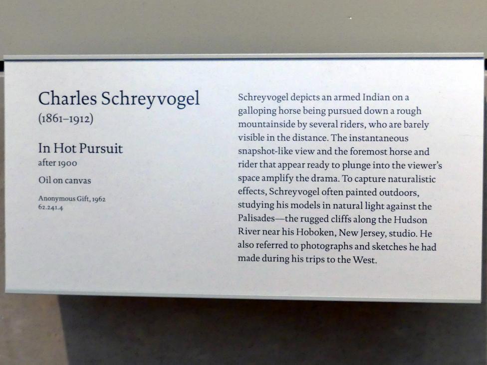 Charles Schreyvogel: in heißer Verfolgung, nach 1900, Bild 2/2