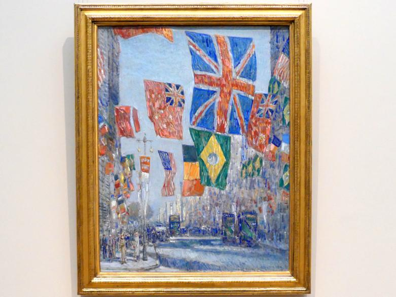 Childe Hassam: Avenue der Alliierten, Großbritannien, 1918, 1918