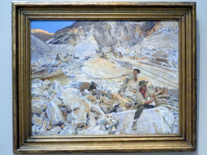 John Singer Sargent: Marmorabbau von den Steinbrüchen nach Carrara, 1911
