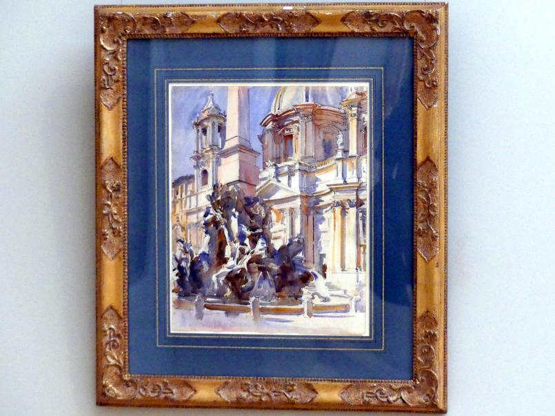 John Singer Sargent: Piazza Navona in Rom, 1906