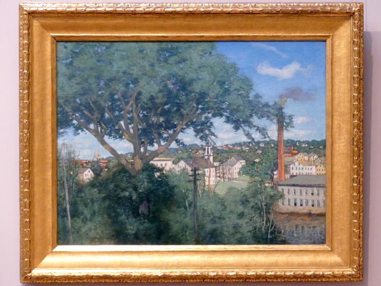 Julian Alden Weir: Das Fabrikdorf, 1897