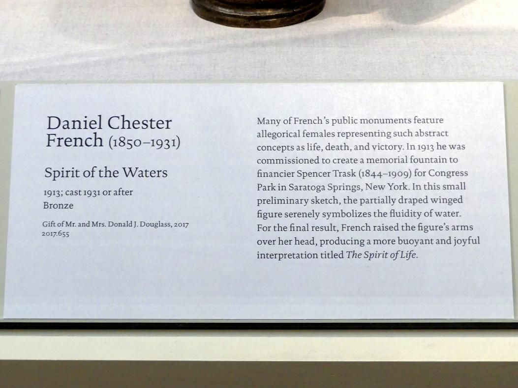 Daniel Chester French: Geist des Wassers, 1913, Bild 2/2