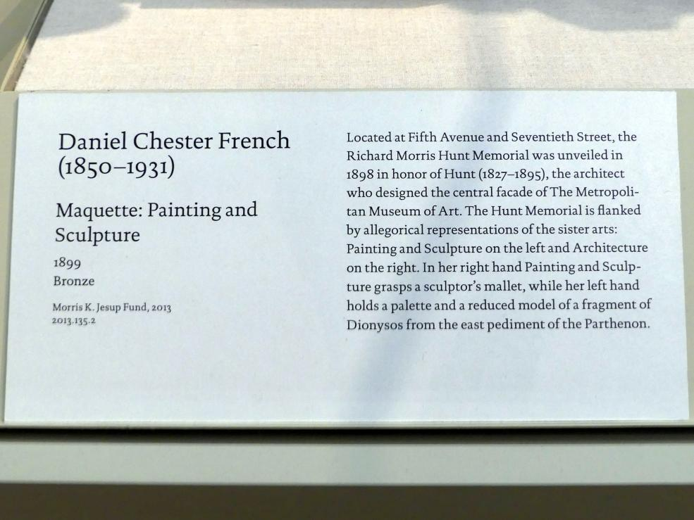 Daniel Chester French: Modell für eine Allegorie der Malerei und Bildhauerei, 1899, Bild 2/2