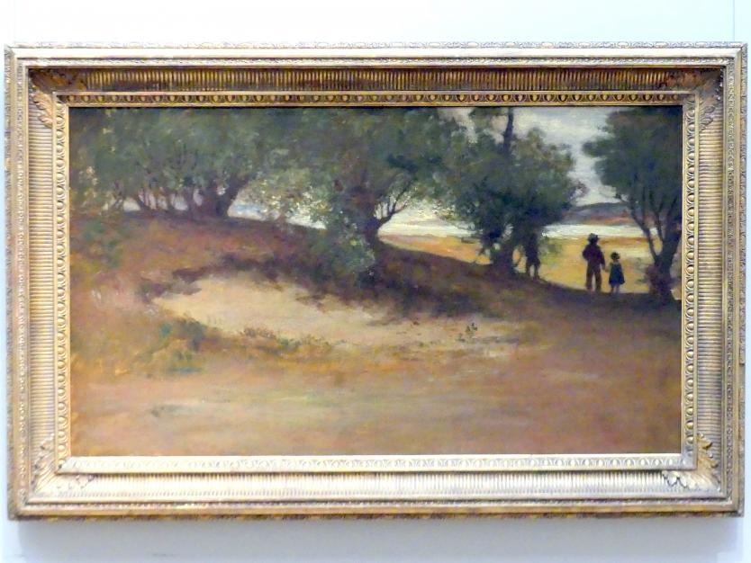 William Morris Hunt: Sandbank mit Weiden, Magnolie, 1877