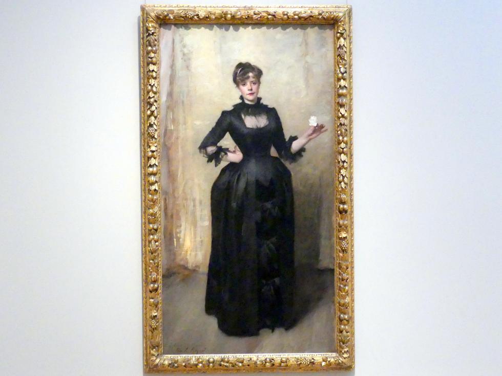 John Singer Sargent: Dame mit der Rose (Charlotte Louise Burckhardt), 1882