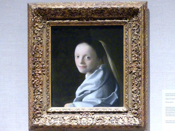 Jan Vermeer (Johannes Vermeer): Bildnis eines jungen Mädchens, um 1665 - 1667