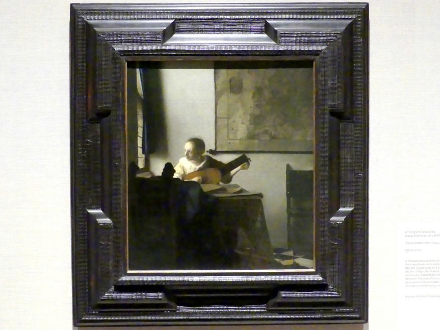 Jan Vermeer (Johannes Vermeer): Junge Frau mit Laute, um 1662 - 1663