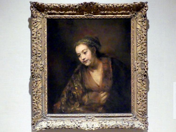 Rembrandt (Rembrandt Harmenszoon van Rijn): Hendrickje Stoffels (1626-1663), um 1655