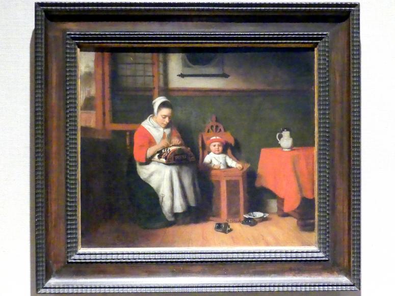 Nicolaes Maes: Die Klöpplerin, um 1656