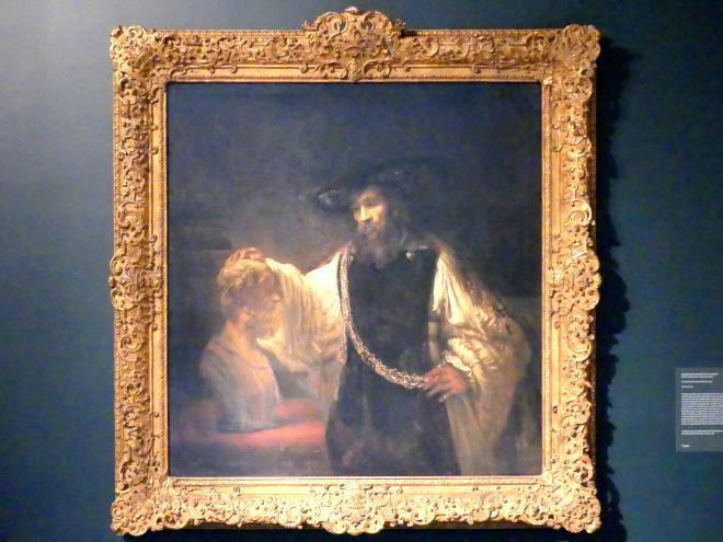 Rembrandt (Rembrandt Harmenszoon van Rijn): Aristoteles mit der Büste Homers, 1653