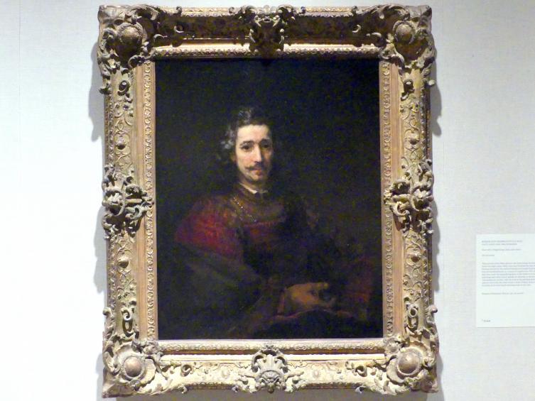 Rembrandt (Rembrandt Harmenszoon van Rijn): Mann mit einer Lupe, um 1660 - 1663
