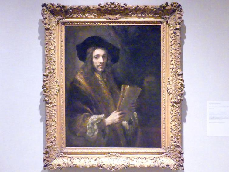 """Rembrandt (Nachfolger): Porträt eines Mannes (""""Der Auktionator""""), um 1658 - 1662"""