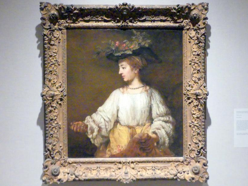 Rembrandt (Rembrandt Harmenszoon van Rijn): Flora, um 1654
