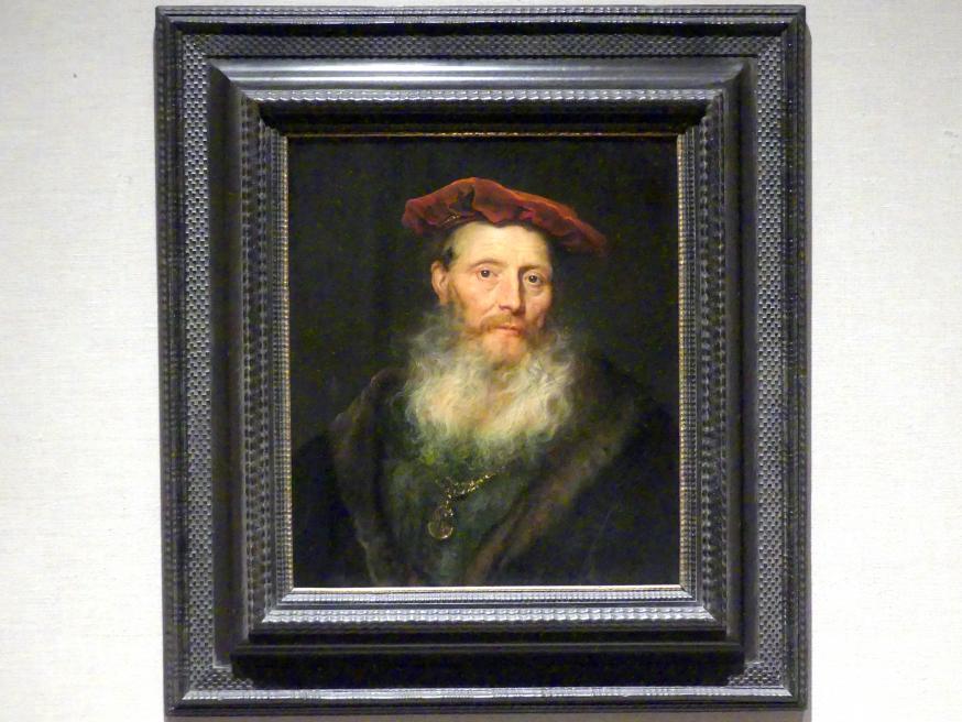 Govaert Flinck: Bärtiger Mann mit Samtmütze, 1645