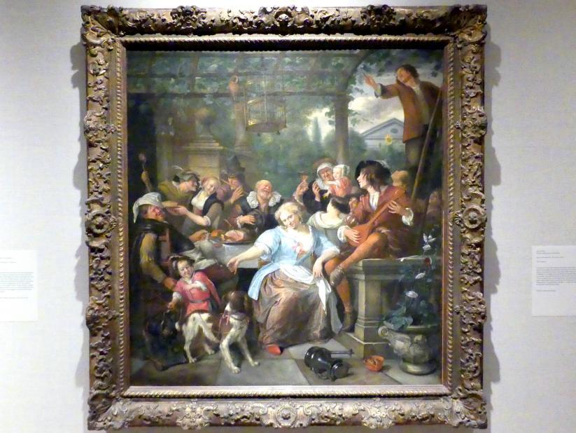 Jan Havickszoon Steen: Hochzeitsgesellschaft auf einer Terrasse, um 1670