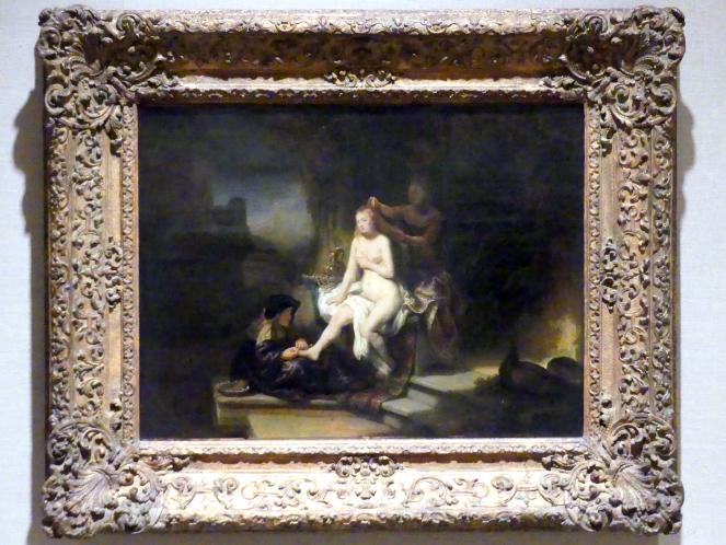 Rembrandt (Rembrandt Harmenszoon van Rijn): Die Toilette von Bathseba, 1643