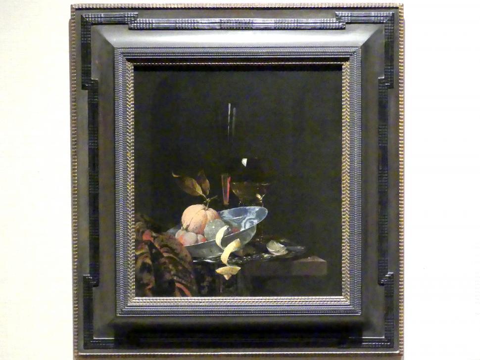 Willem Claeszoon Heda: Stillleben mit Obst, Glaswaren und einer Wanli-Schüssel, 1659