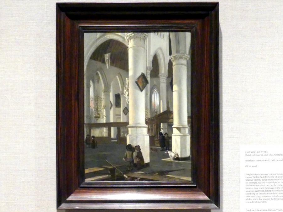 Emanuel de Witte: Interieur der Oude Kerk, Delft, 1650