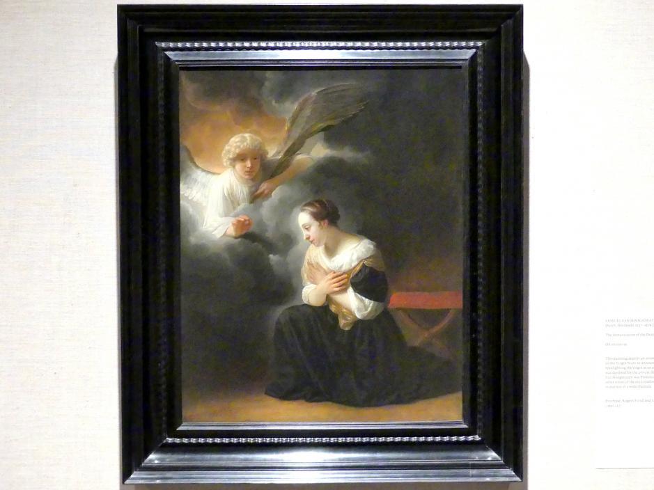 Samuel van Hoogstraten: Die Verkündigung des Todes der Jungfrau, um 1670