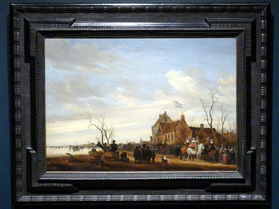 Salomon van Ruysdael: Aalzeichnen, um 1650 - 1653