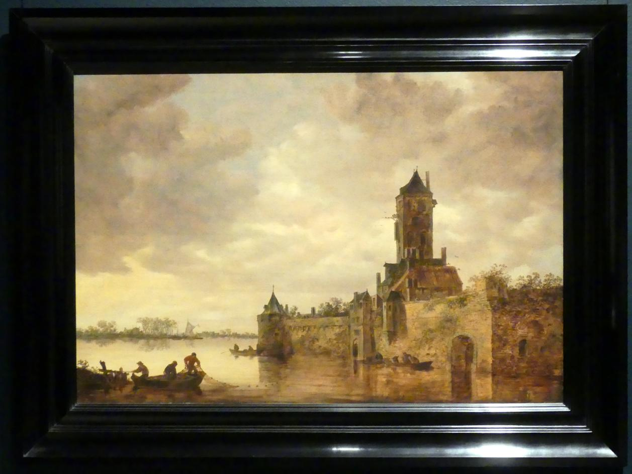 Jan van Goyen: Schloss an einem Fluss, 1647