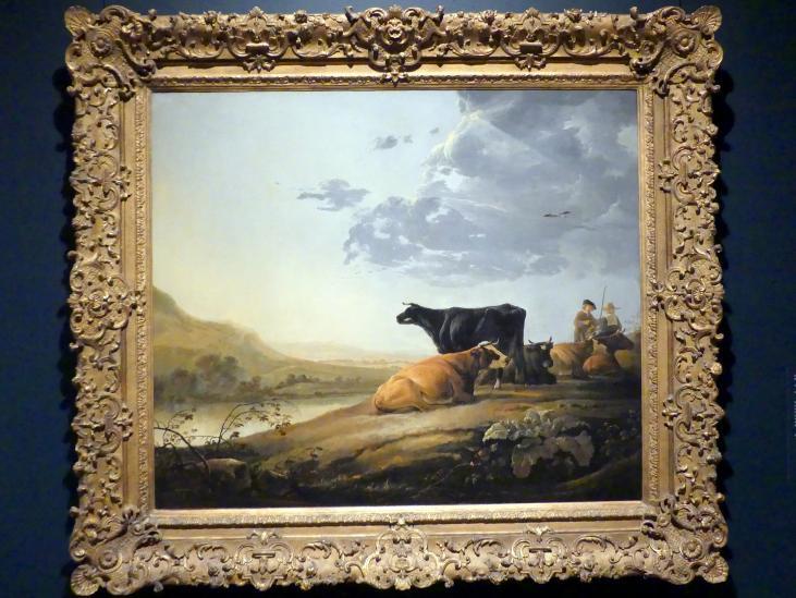 Aelbert Cuyp: Junge Hirten mit Kühen, um 1655 - 1660