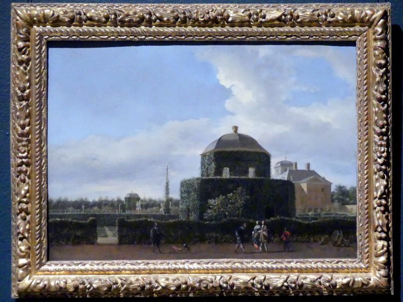 Jan van der Heyden: Das Huis ten Bosch in Den Haag und sein formeller Garten (Blick von Süden), um 1668 - 1670