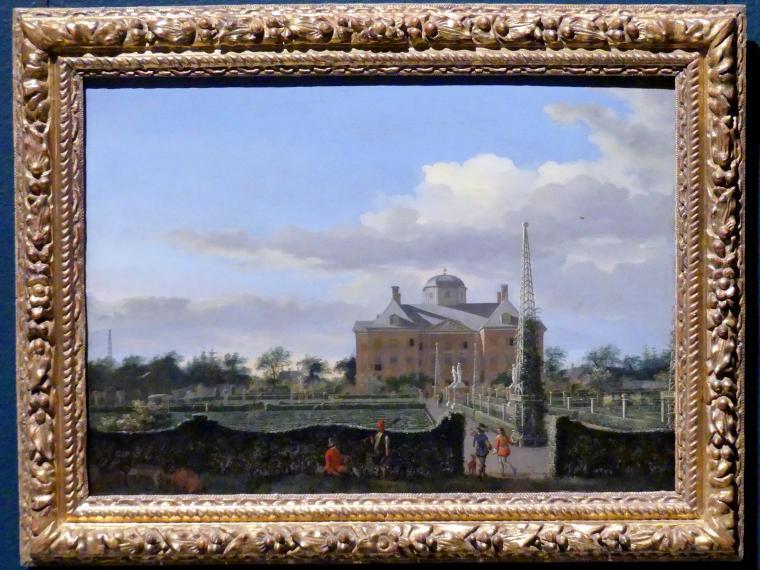 Jan van der Heyden: Das Huis ten Bosch in Den Haag und sein formeller Garten (Blick von Osten), um 1652 - 1653
