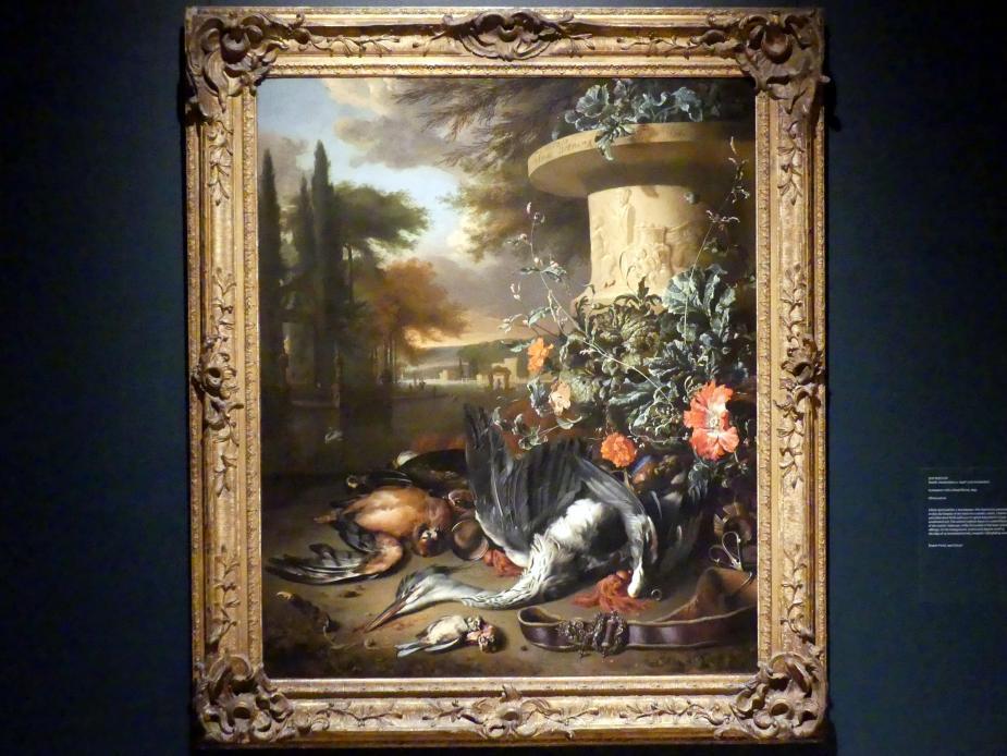 Jan Weenix: Wild-Stillleben mit einem toten Reiher, 1695