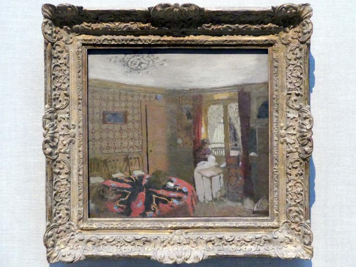 Édouard Vuillard: Frau Vuillard beim Nähen am Fenster, Rue Truffaut, um 1899