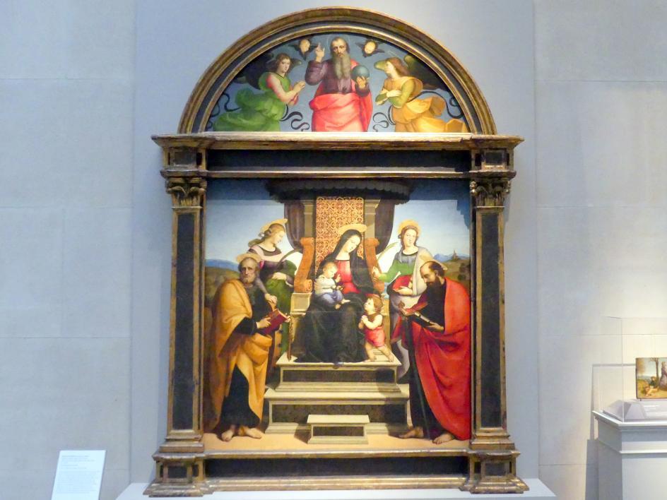 Raffaello Santi (Raffael): Thronende Maria mit Kind und Heiligen, um 1504