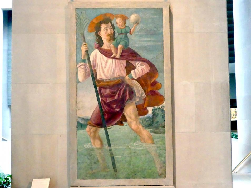 Domenico Ghirlandaio: Heiliger Christophorus mit dem Jesusknaben, um 1472 - 1475
