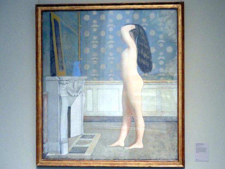 Balthus (Balthasar Kłossowski de Rola): Weiblicher Akt vor einem Spiegel, 1955